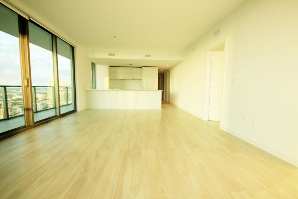Unit 3506 at SLS Brickell - Living room